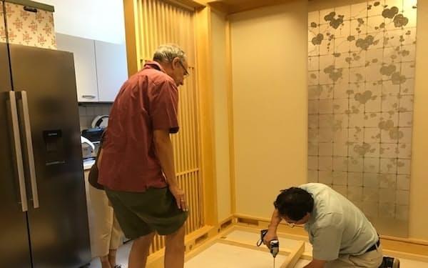 オーストリアや台湾に組み立て式和室を販売した(2019年、ウィーン)