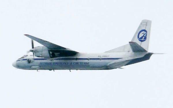 領空侵犯したロシアの航空機=防衛省提供、共同