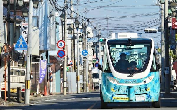 茨城県境町を走る自動運転バス(出所:BOLDLY)