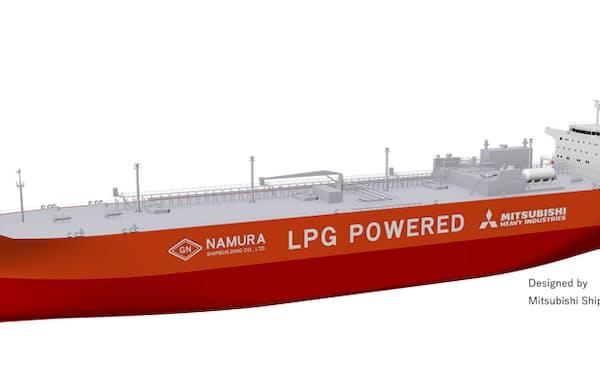 名村造船所はアンモニア積載量が8万7000立方メートルと国内最大級の運搬船を受注