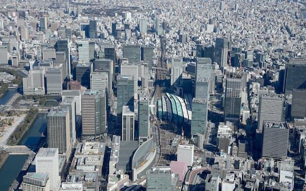 丸の内周辺のビル街(東京都)