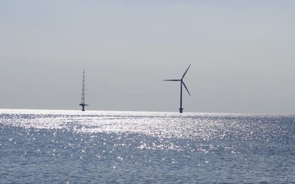 千葉県銚子市沖の洋上風力発電