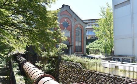 1912年に竣工した赤茶色のレンガの建屋。発電機が置かれていたが、現在は使われていない