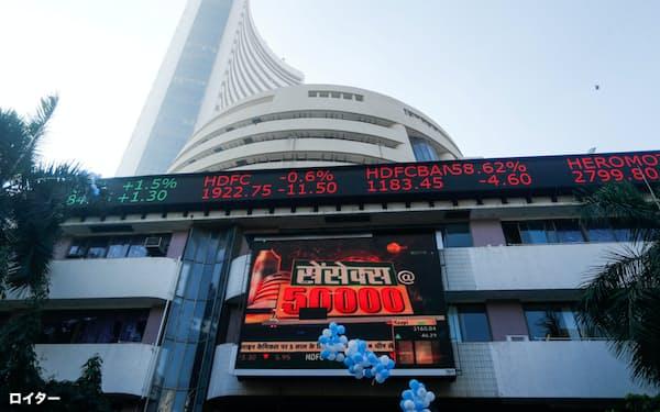 新規公開株を含め好調が続くインド株式市場(2021年1月 ムンバイ証取外観)