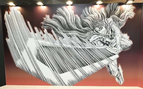 大剣を振るうガッツを描き下ろした©三浦建太郎(スタジオ我画)/白泉社