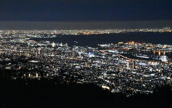 夜の展望台からの景色