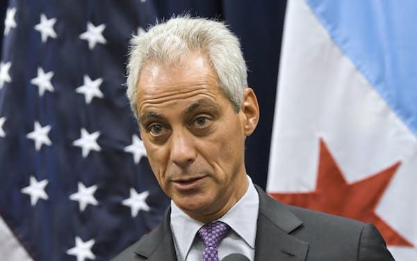 次期駐日大使に指名されたラーム・エマニュエル前シカゴ市長=AP