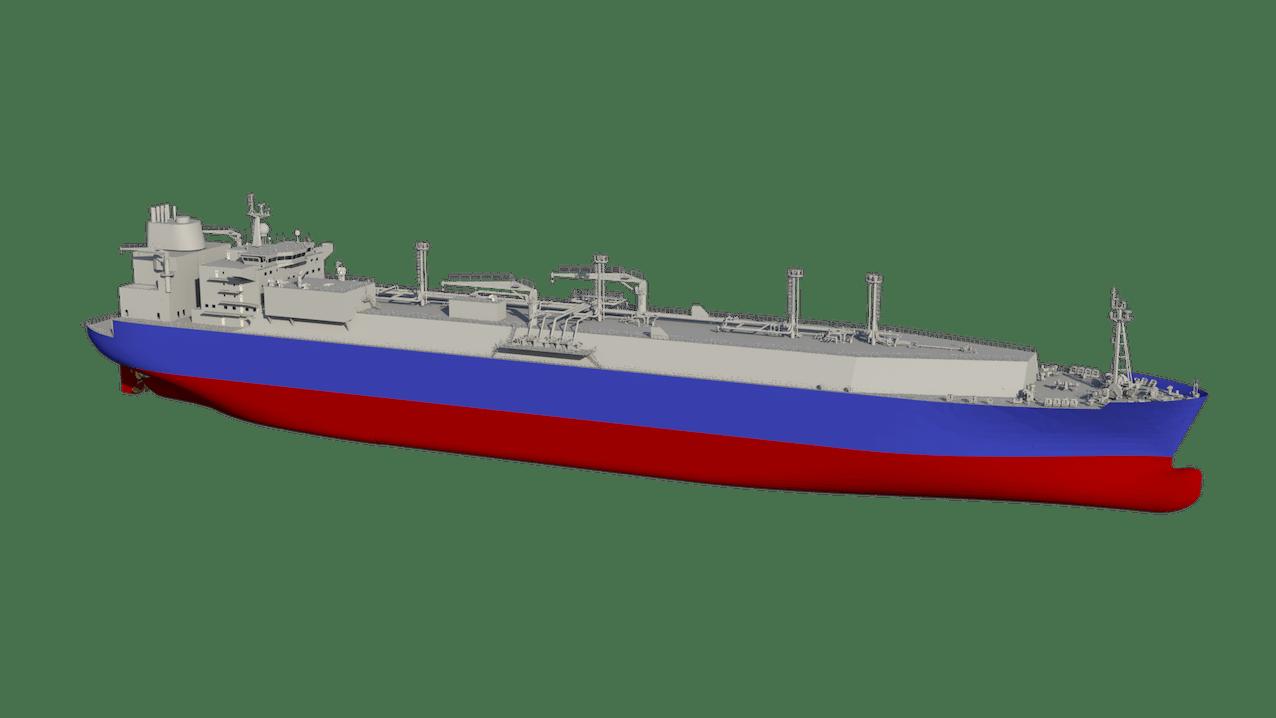 商船三井が発注するLNG運搬船(イメージ)