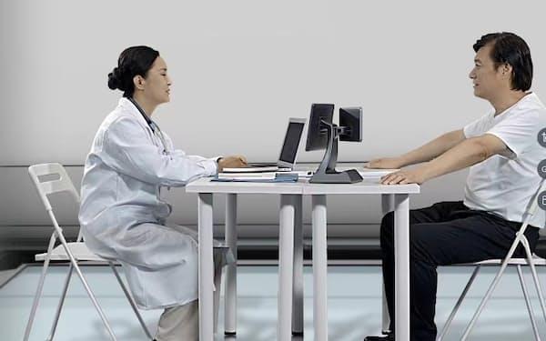 医師の臨床現場をアシストするロボット「診室聴譯機器人」=企業提供