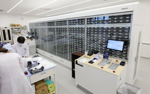 中部薬品が導入した自動の薬剤ピッキング装置(岐阜市)