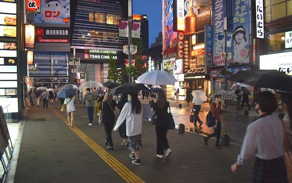 新宿区歌舞伎町1丁目は商業地で下落率が最も大きかった(14日)