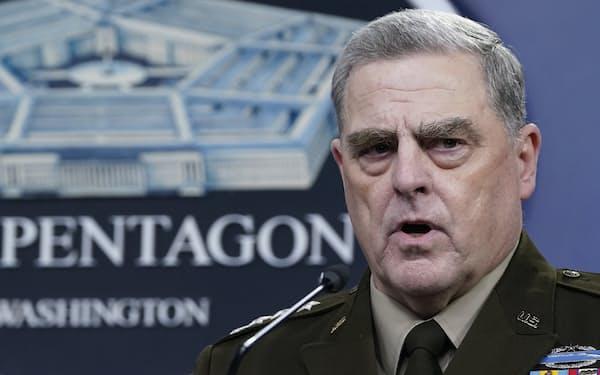 米軍のミリー統合参謀本部議長はトランプ氏による核攻撃命令を阻止する方法を考えていた=AP