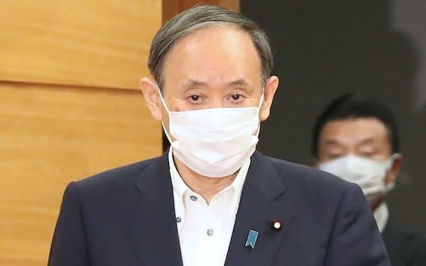 菅首相(14日午前、首相官邸)