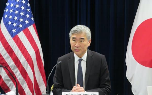 米国のソン・キム北朝鮮担当特使(15日、在日米国大使館)
