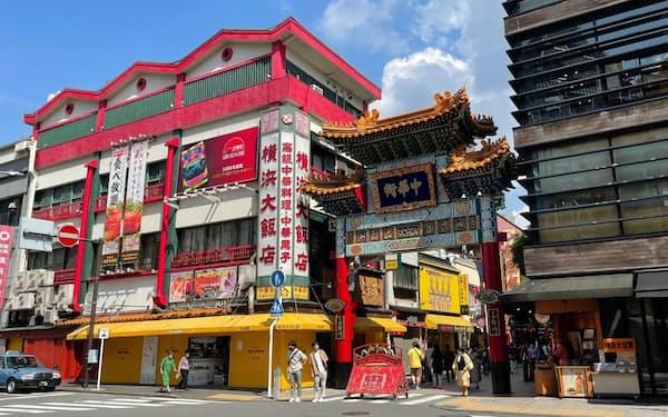 新型コロナの影響が大きい横浜中華街の地価は下落した(横浜市)