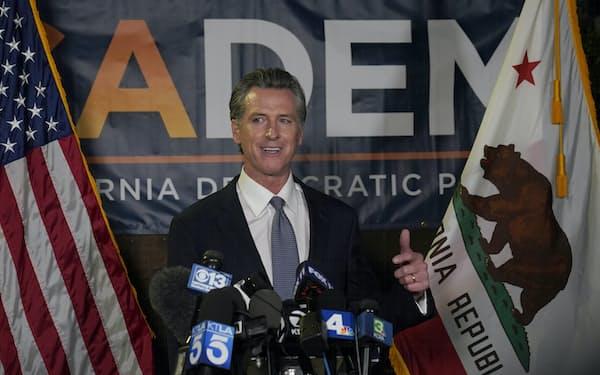 カリフォルニア州知事に対するリコールは否決される見通しになった=AP