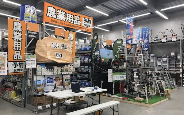 札幌発寒店では約7万2000商品を用意した
