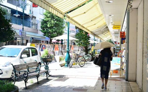 静岡県内で最も地価が高い静岡市葵区呉服町の周辺