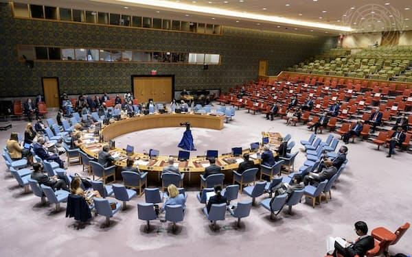 安保理は15日、北朝鮮のミサイル発射を巡る緊急会合を非公開で開いた=国連提供