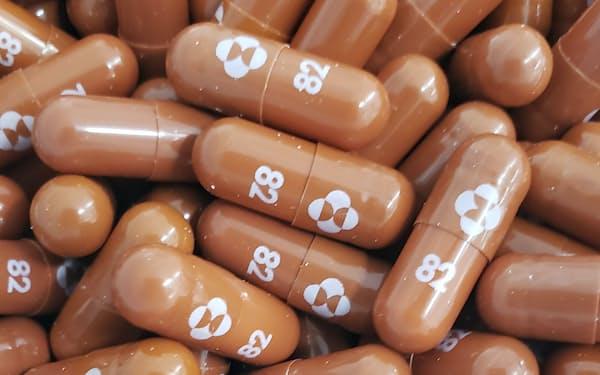 新型コロナウイルス感染症治療薬候補の「モルヌピラビル」=米メルク提供・共同