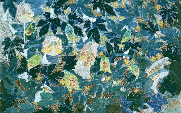 丸木スマ「せみが鳴く」(1952年 、原爆の図丸木美術館蔵)