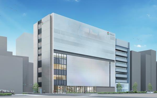 メニコンの新しい複合ビルには劇場やオフィスが入る