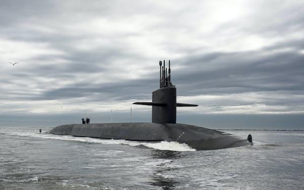 原子力潜水艦は米英など限られた国しか保有していない(米海軍の原潜)=ロイター