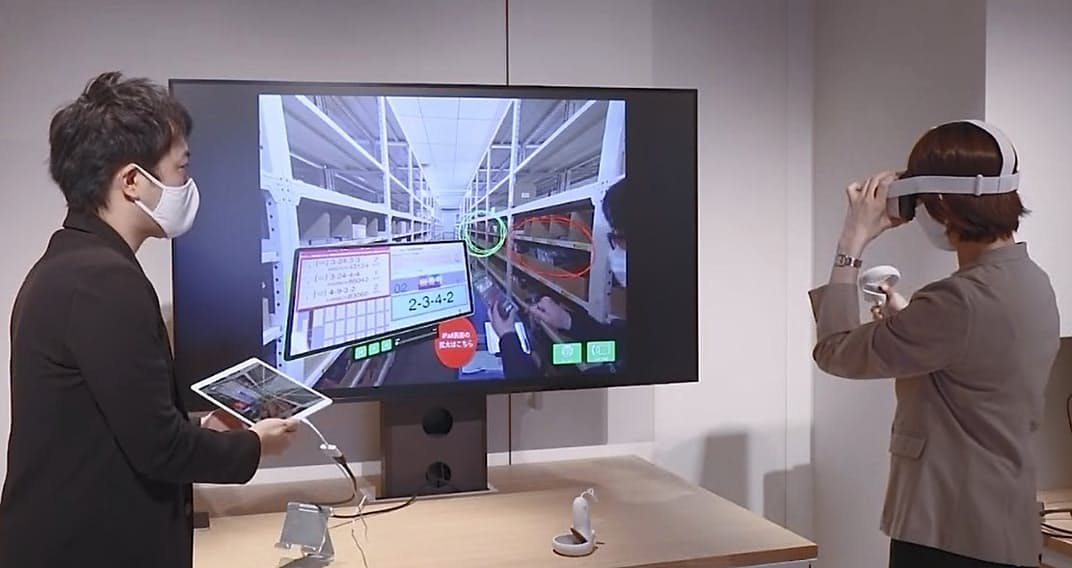 VRゴーグルやタブレットなどからVRで現場の映像を見る