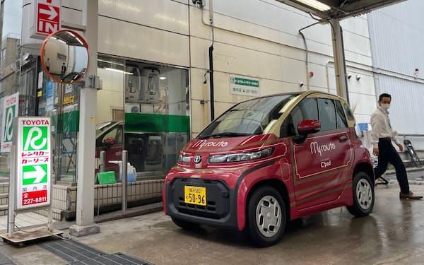 横浜市では臨海部でトヨタの超小型EVを活用した短時間レンタルが始まった