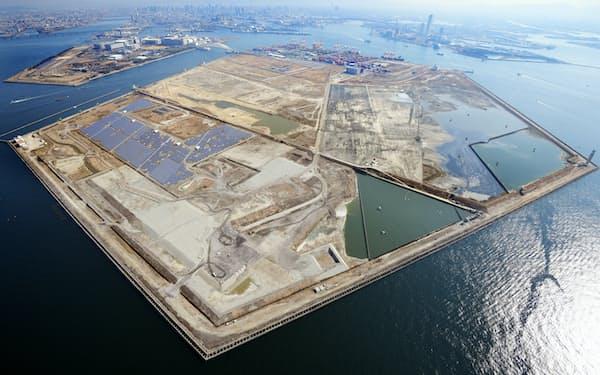 大阪IRの整備が予定されている人工島・夢洲(ゆめしま、大阪市)