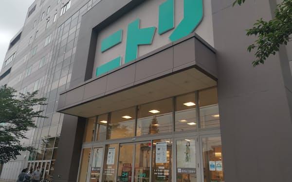 巣ごもり特需の反動で3~8月期の売上高は会社計画に届かなかった(東京都北区のニトリ赤羽店)