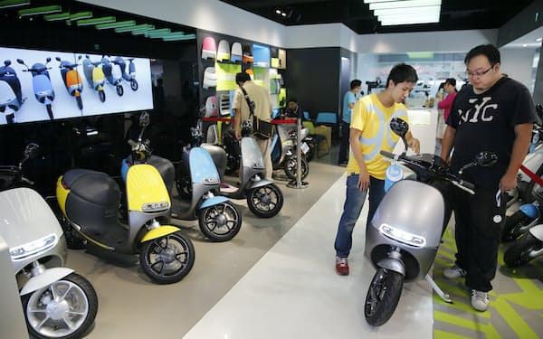 台湾Gogoroはビジネスモデルがヒットし、成長を遂げた=AP