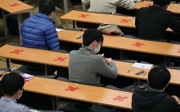 大学入学共通テストに臨む受験生(東京都文京区)