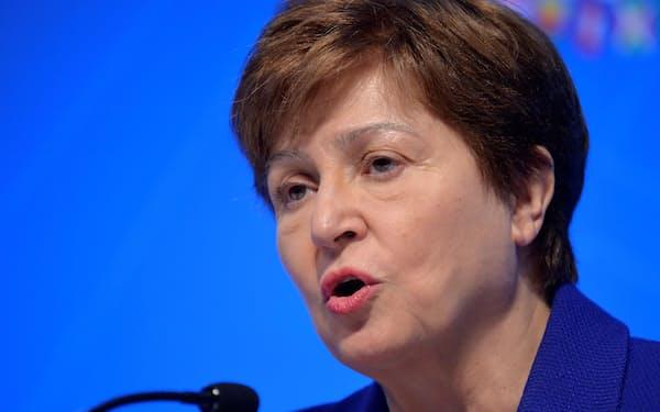 IMFのゲオルギエワ専務理事=ロイター