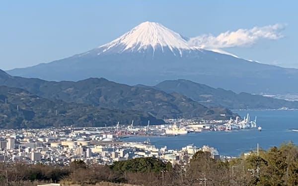 静岡市内から見た富士山