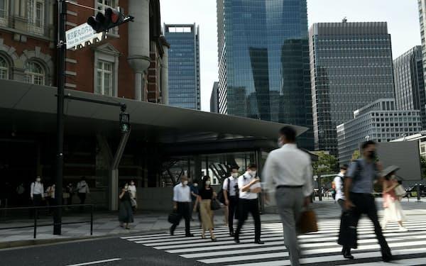 東京の都心部ではオフィスの空室率の上昇も(13日午前、東京・丸の内)