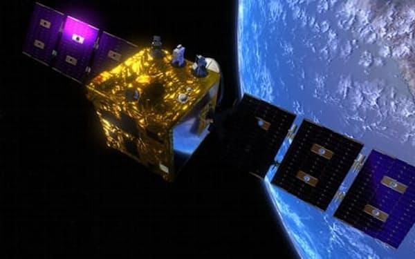 ワープスペースが計画する光通信衛星(イメージ)