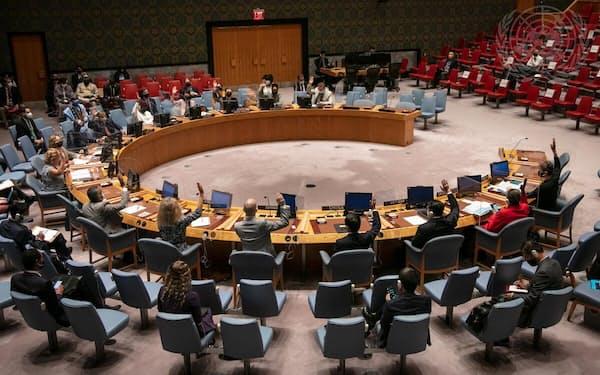 安保理は17日、全会一致でアフガン支援団の任期を延長した=国連提供
