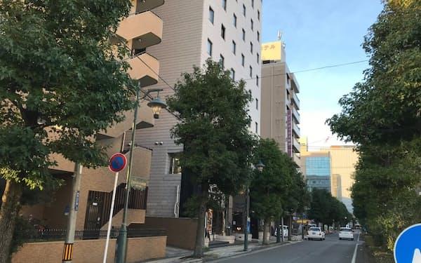再開発が進む新潟駅前に近く、地価が上昇している新潟市中央区弁天2丁目(19日)