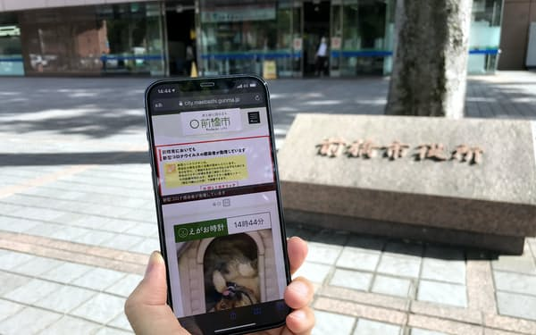 まえばしIDはスマホなどの顔認証を使って本人確認する(イメージ)