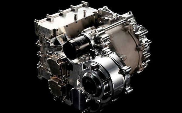 ヤマハ発動機の電気自動車(EV)向け駆動用モーター。写真は最高出力350キロワットのモデル。2021年5月から開催された「人とくるまのテクノロジー展2021オンライン」で披露した(出所:ヤマハ発動機)