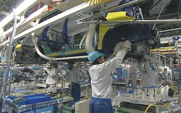 ダイハツは10月も減産を継続する(大分県中津市の工場)
