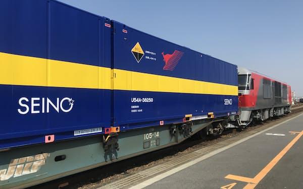 西濃運輸のブロックトレイン