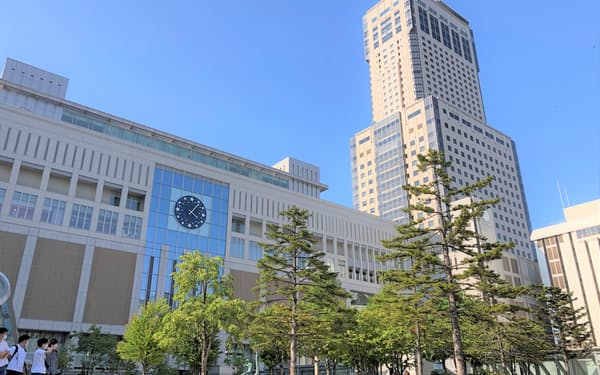 連休最終日の札幌駅の人出は感染拡大前と比べ7.1%減った