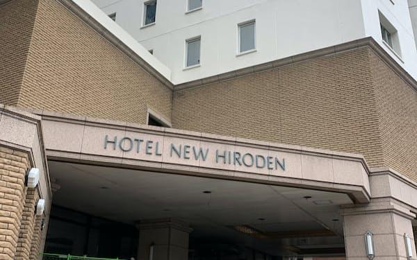 21年1月末に閉館したホテルニューヒロデン(広島市)