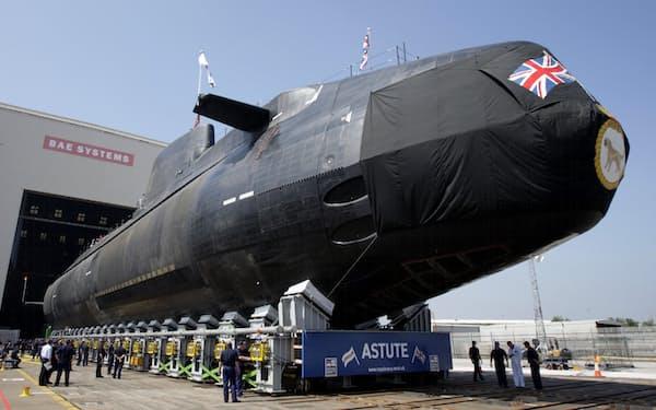 豪州の潜水艦計画の有力候補に挙がっている英海軍のアスチュート級原潜=ロイター