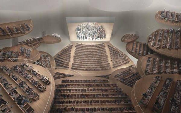 徳島県が選定した新ホールのイメージ図