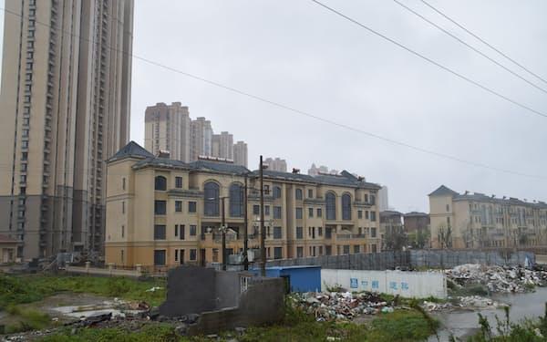 イタリアのベネチアを模した中国恒大集団の別荘リゾートは開発が止まっている(江蘇省南通市啓東、9月15日)