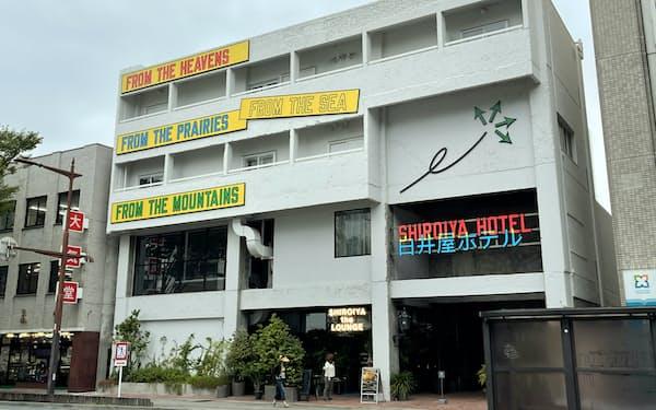 白井屋ホテルは開業1周年を記念してアートイルミネーションを実施する(前橋市)