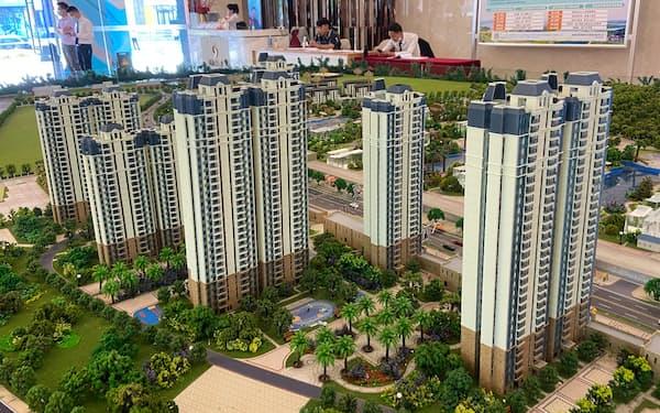 中国恒大集団のマンション販売拠点(広東省仏山市)